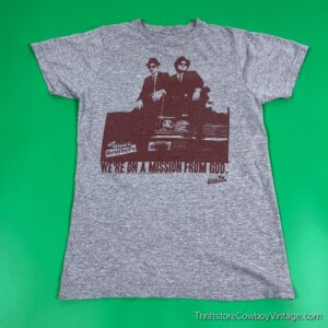 2000s BLUES BROTHERS MOVIE T-SHIRT Mission From God Reprint SMALL