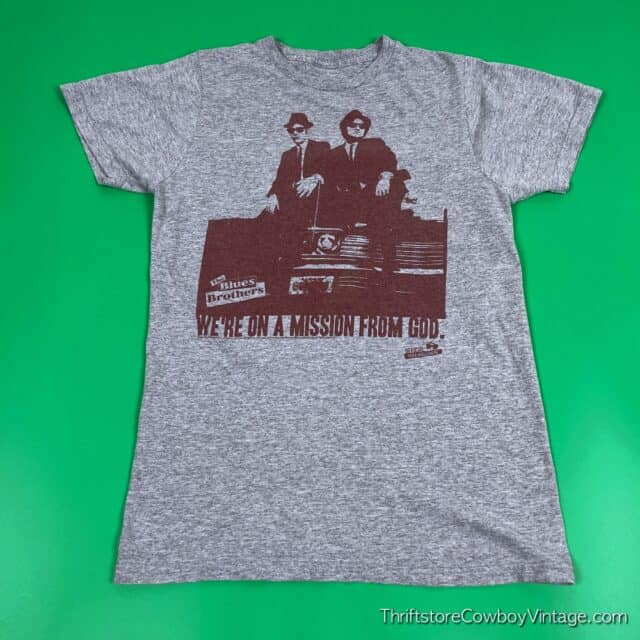 2000s BLUES BROTHERS MOVIE T-SHIRT Mission From God Reprint SMALL 3