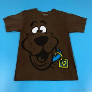 SCOOBY-DOO T-SHIRT Allover Face 2000s MEDIUM