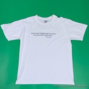 Vintage 90s MARK TWAIN T-SHIRT Exercise Quote LARGE