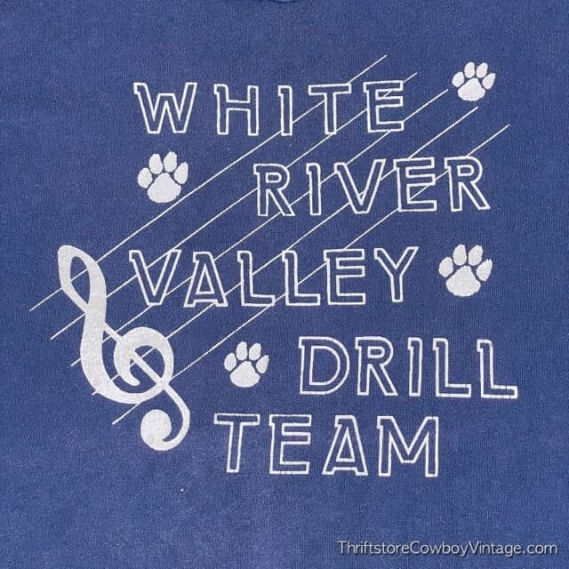 Vintage 80s WHITE RIVER VALLEY DRILL TEAM T-SHIRT XL 7