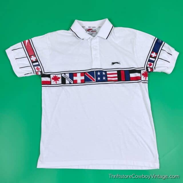 Vintage 80s JIMMY CONNORS POLO Slazenger SMALL 3