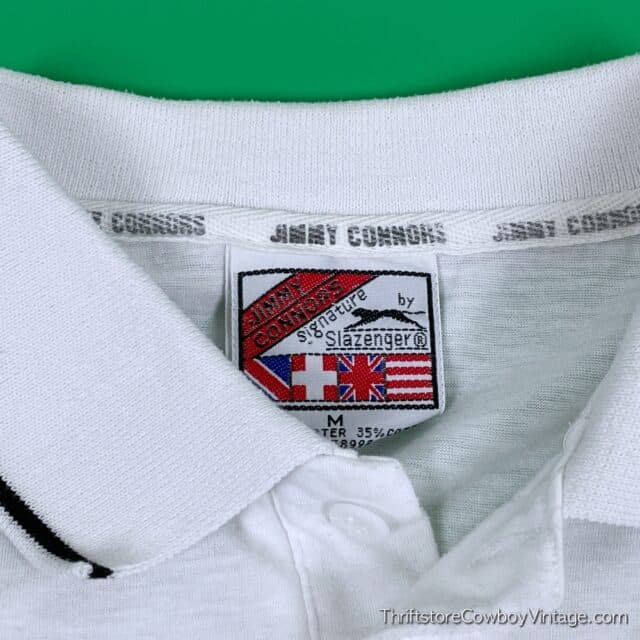Vintage 80s JIMMY CONNORS POLO Slazenger SMALL 6