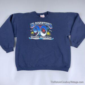 Vintage 1996 BLOSSOMTIME FESTIVAL SWEATSHIRT 90th Birthday Celebration XL