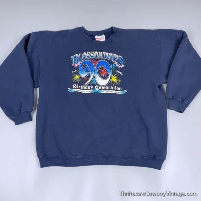 Vintage 1996 BLOSSOMTIME FESTIVAL SWEATSHIRT 90th Birthday Celebration XL 3