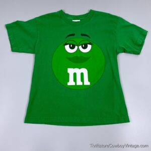 2000s GREEN M&M T-SHIRT Small