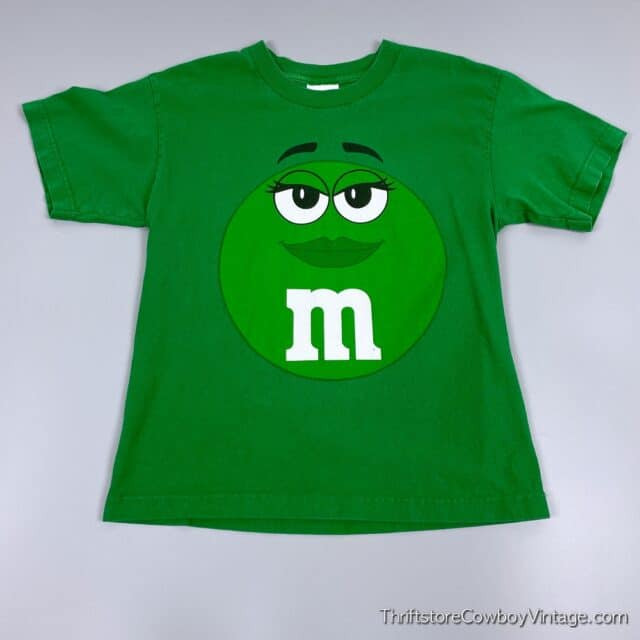 2000s GREEN M&M T-SHIRT Small 3