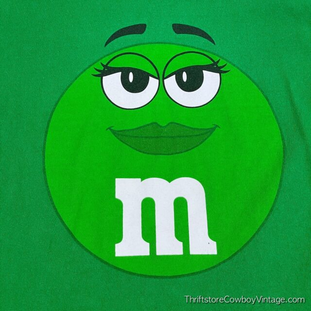 2000s GREEN M&M T-SHIRT Small 4