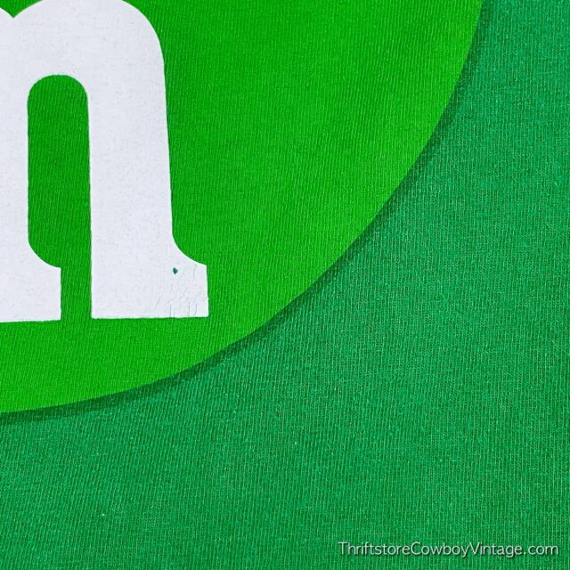 2000s GREEN M&M T-SHIRT Small 5