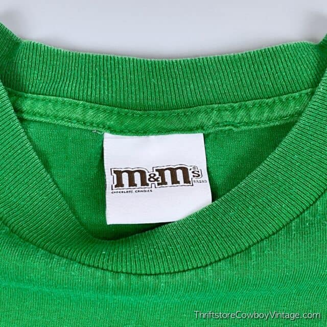 2000s GREEN M&M T-SHIRT Small 6