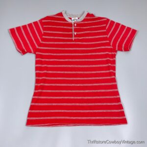 Vintage 80s NEW CONNECTIONS T-SHIRT Striped MEDIUM