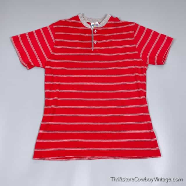 Vintage 80s NEW CONNECTIONS T-SHIRT Striped MEDIUM 3