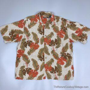 Vintage 90s PURITAN BOTANICAL HAWAIIAN SHIRT M/L