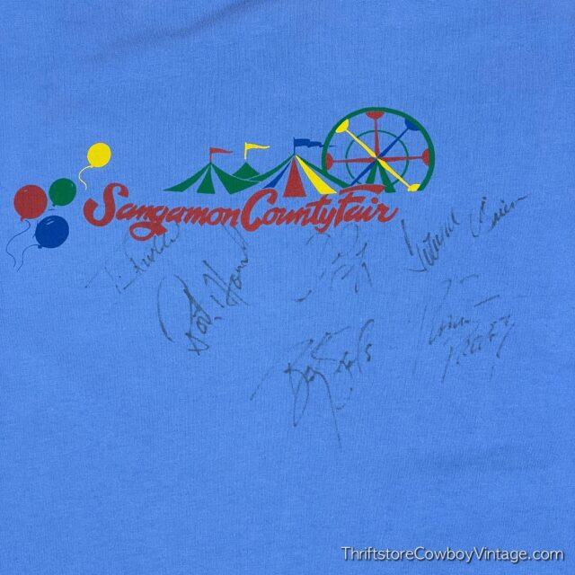 Vintage 90s SANGAMON COUNTY FAIR T-SHIRT G-Team XL 6
