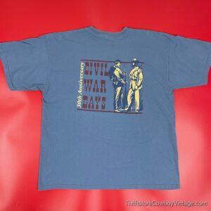 2000s CIVIL WAR DAYS T-SHIRT Billie Creek Village Indiana XL
