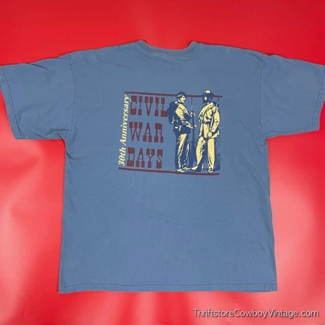 2000s CIVIL WAR DAYS T-SHIRT Billie Creek Village Indiana XL 3