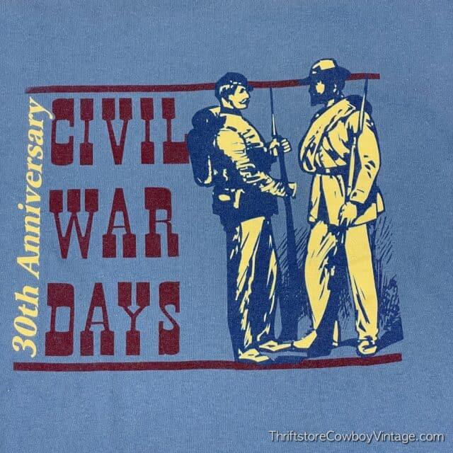 2000s CIVIL WAR DAYS T-SHIRT Billie Creek Village Indiana XL 6