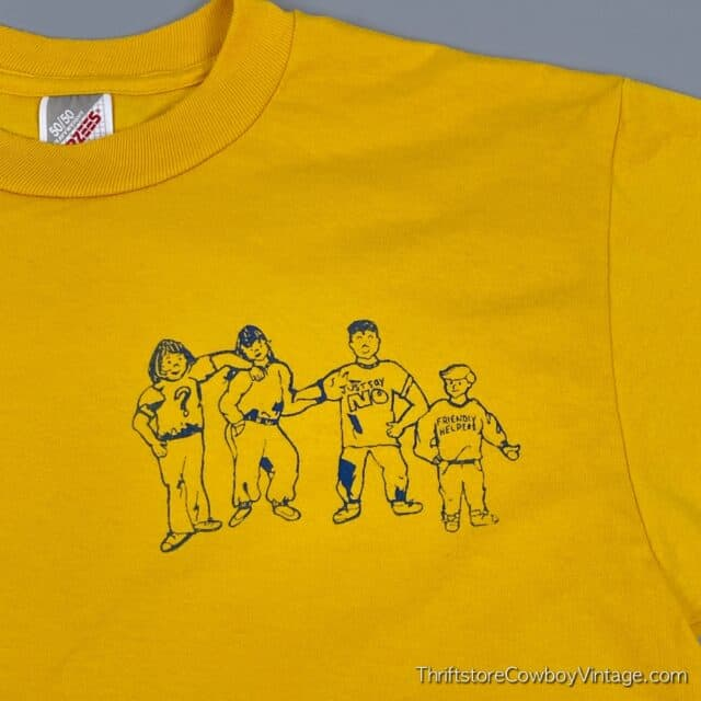 Vintage 90s JUST SAY NO T-SHIRT Ouabache Friendly Helpers MEDIUM 5