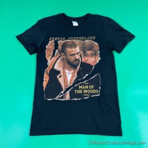 2018 JUSTIN TIMBERLAKE CONCERT T-SHIRT Man of the Woods SMALL 3