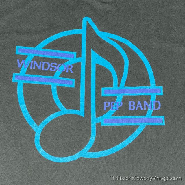 Vintage 90s WINDSOR PEP BAND T-SHIRT LARGE 4