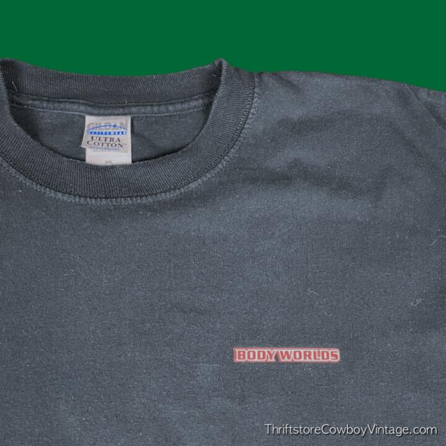 2000s BODY WORLDS T-SHIRT Long Sleeve 2XL 5