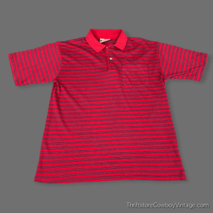Vintage 90s AMERICAN EDITION STRIPED POLO SHIRT SMALL
