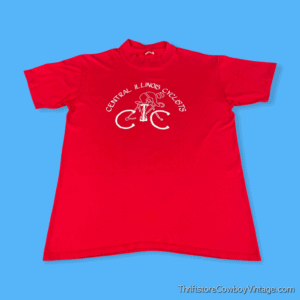 Vintage 80s CENTRAL ILLINOIS CYCLISTS T-SHIRT MEDIUM