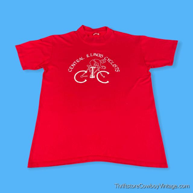 Vintage 80s CENTRAL ILLINOIS CYCLISTS T-SHIRT MEDIUM 3
