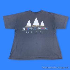 Vintage 80s GUAM SAILBOATS T-SHIRT LARGE